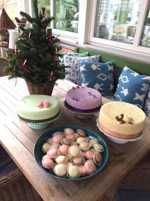 Sweet Table mit Macarons von Judith und die Torten